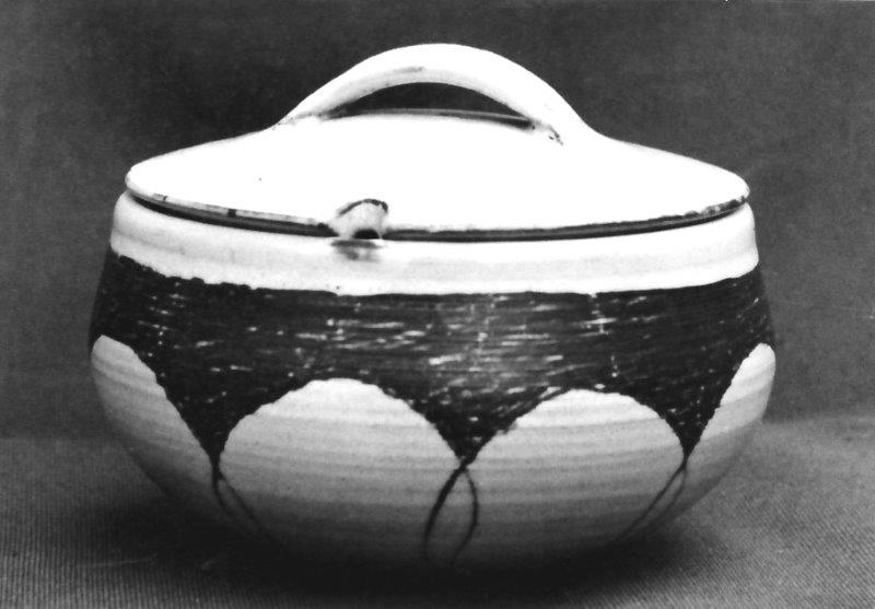 Wide jar with lid