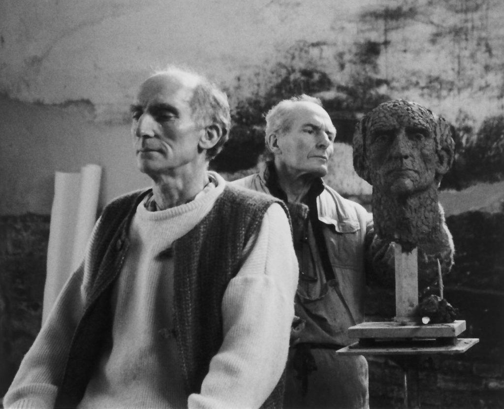 Alan Thornhill creating a portrait head in his studio