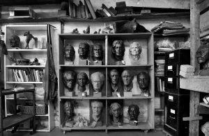 Alan Thornhill's studio heads.