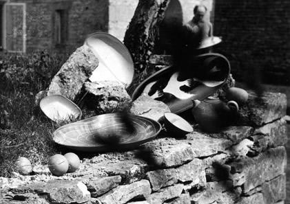 Some of Alan Thornhill's ceramics.
